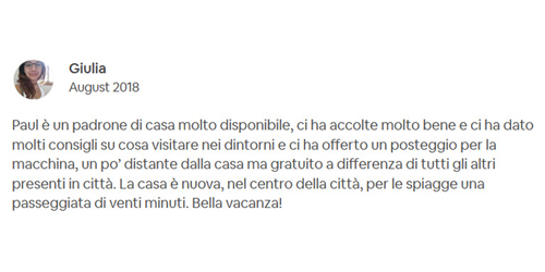 AirBNB Review Giulia