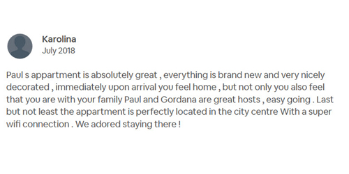 AirBNB Review Karolina