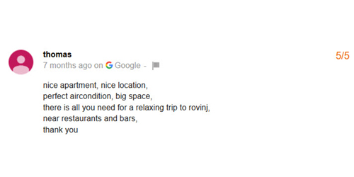 Google Review Thomas